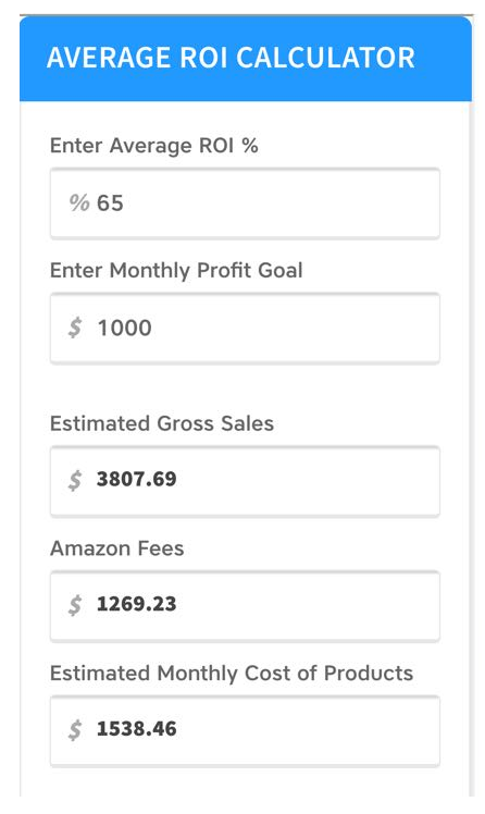 Amazon ROI Calculator