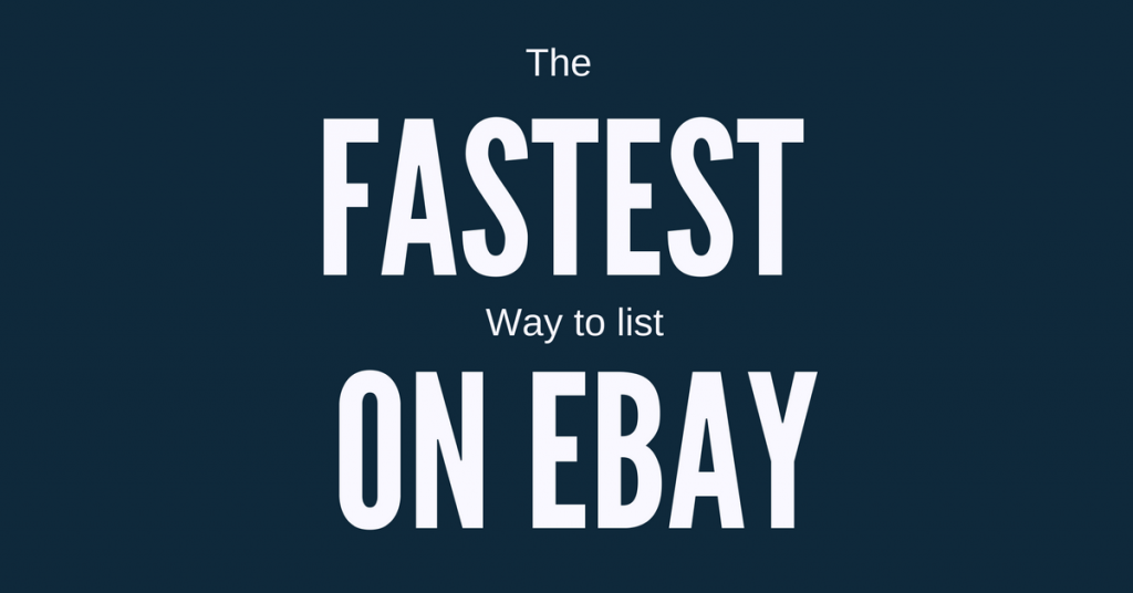List on Ebay easily