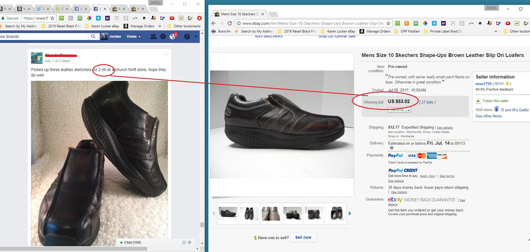 2b4946291769b Can you make big profits selling USED shoes on eBay