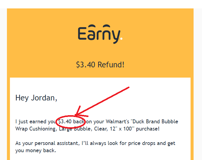cash back from earny