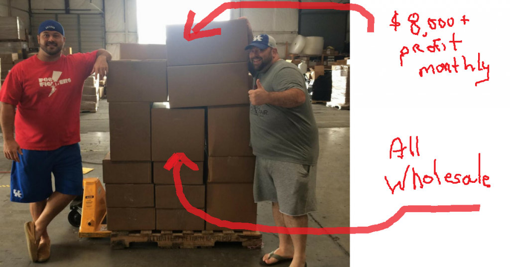 The above pic is Dan & Eric from The Wholesale Formula. They sell $11M+ annually on Amazon