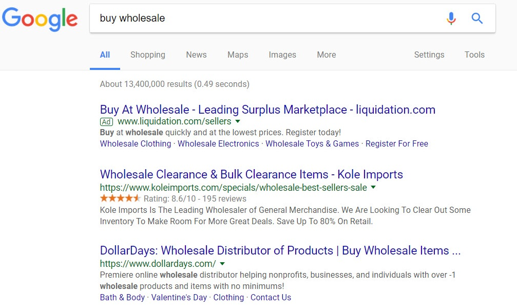 find wholesale to sell