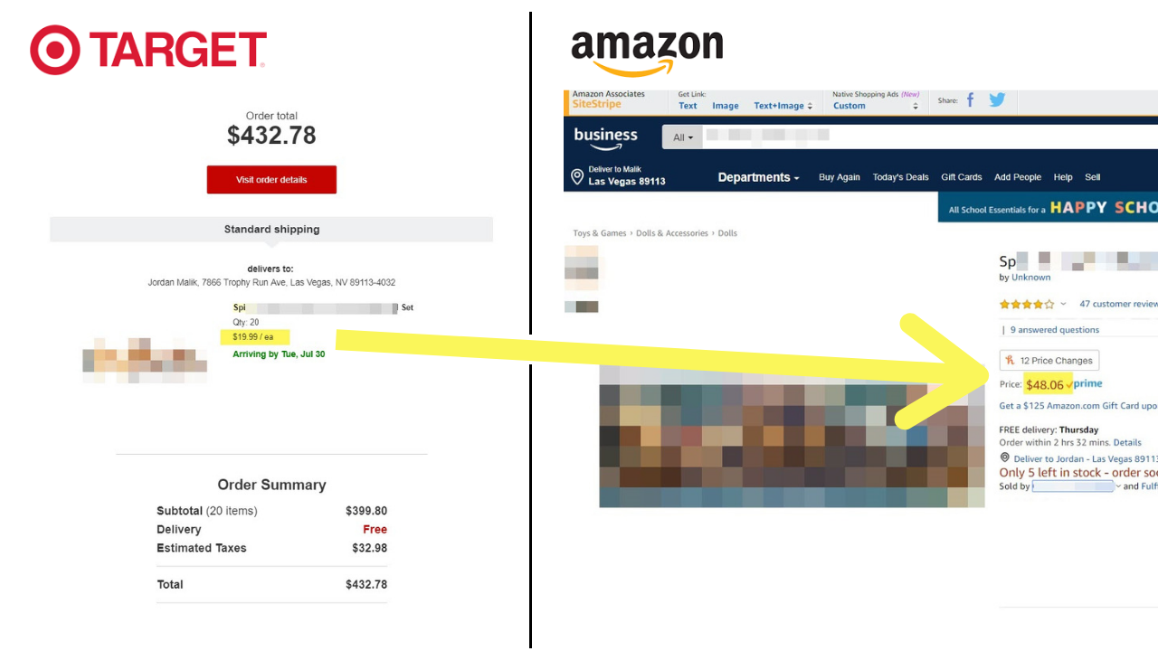 Retail Arbitrage from Target to Amazon